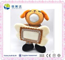 Cute Plush Photo Frame 3D Face Doll Dog Toy