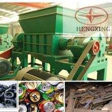 double shaft shredder machine for industrial old tire scrap metal