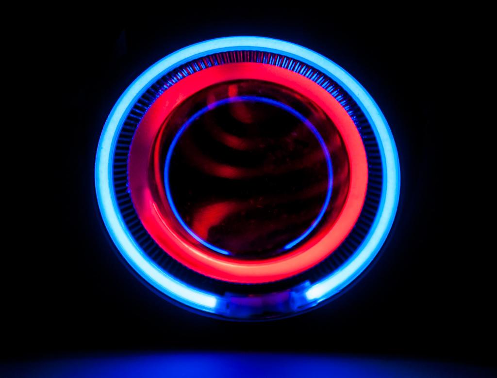 7 couleurs moto lentille de phare bi x non projecteur objectif clair avec angel eye eye diable. Black Bedroom Furniture Sets. Home Design Ideas