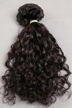 100% human hair one donor only full cuticle spring curly hair extension