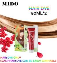 Chestnut & bright red or else hair dye curly hair