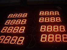 led digital numbers outdoor 4 digits gas price led signs
