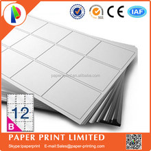 Avery Compatible L7164/J8164 Label paper ,waterproof self adhesive A4 blank label paper,12 Labels/sheet 63.5 x 71.5mm