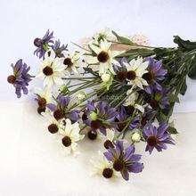 Artificial Plastic Artificial Flowers Fake Flower Bush Bouquet Home Wedding Room Decoration 6 Colors