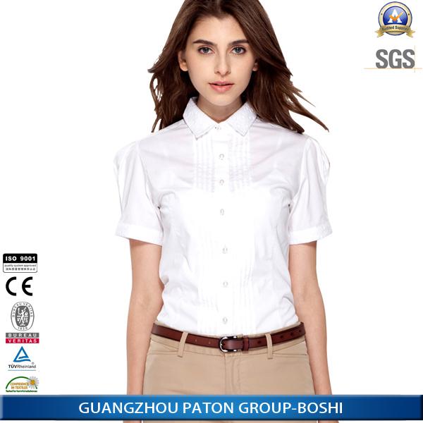 Women'S White Short Sleeve Blouse 42