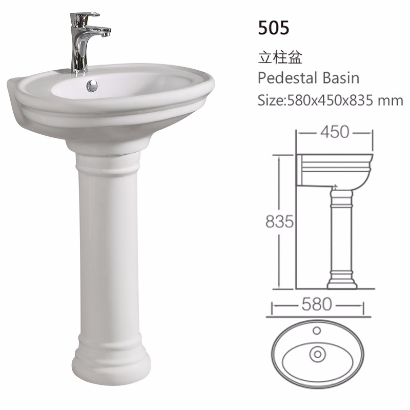 Industrial Ceramic Stand Alone Sinks Corner Basin For Latrine