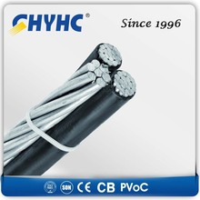 XLPE Insulated Aerial Bundled Cables 6.35/11,12.7/22,19/33kV awg 16 abc cable