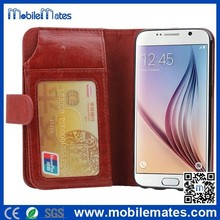 Wholesale mobile phone case cover for Samsung Galaxy S6 Wallet leather TPU Case