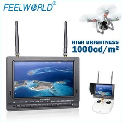 wireless hd fpv camera lcd monitor 7 inch RCA/BNC Connector Optional dual 5.8ghz 32 channels receivers screenshot function