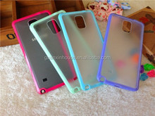 Shockproof Soft Back Silicone TPU+PC Bumper Case Cover For Galaxy NOTE 4