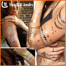 New Design Jewelry Tatto Sexy Easy To Use Cheap Gold Tatto Sticker Jewelry