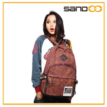 2015 leisure fashion laptop backpack, trendy bags to school for teenagers