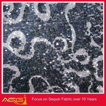 The hot sale top 100 design 100% polyester rotund beautiful fascinating traditional sequin fabric magnetic fabric