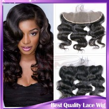 High quality natural color body wave Brazilian lace frontal closure 13x4 with baby hair from ear to ear lace frontal