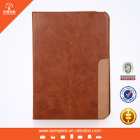 New Arrival Fashion Design Genuine Leather Tablet Cases for i Pad 6 From China Supplier