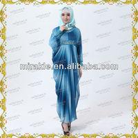 MF16586 Beautiful Colourful Print Arab Abaya HOT SALE