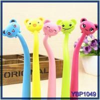 wholesale stationery company cute animal twist mechanism neck ball pen