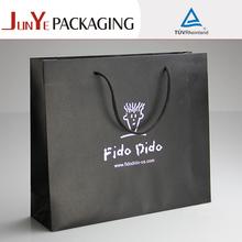 negro bolsas de papel con su propio logotipo de impresión