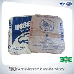 brown kraft paper block bottom cement bag/50kg 25kg brown kraft paper block bottom cement bag