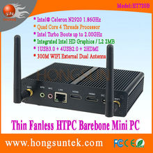 HT720B Intel Celeron N2920 Quad Core 1.86Ghz CPU Fanless Barebone cheap mini computer