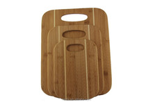 2015 newest two colored square bamboo cutting board with hole