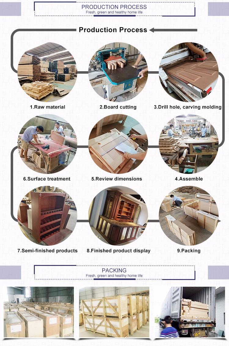 Impermeable material de madera maciza de caoba gabinetes de cocina ...