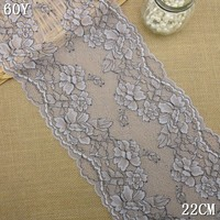 2015 new flower designed swiss voile made in china cheap wholesale 22cm width elastic lace trimming