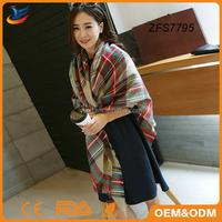 pashmina shawl scarf Camel plaid tartan blanket pashmina shawl