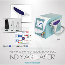 Easy operation competitive price Q-switched ND-TAG Laser tattoo removal device with two laser tips