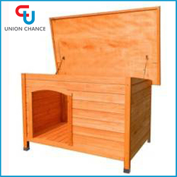 Solid Wood Pet House New Design Outdoor Pet House Natural Wood Pet House