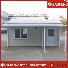 waterproof flat roof 2 story prefab home