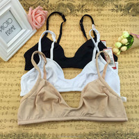 Mother and big breast women strenchy cotton super thin ladies underwear maternity nuring bra
