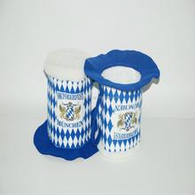 white blue top hat oktoberfest traditional bavarian hat BHAT-1806