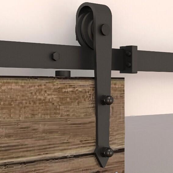 barn wood sliding doors hardware track system kit set