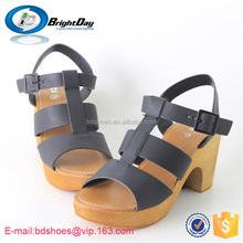 Black color women high heel sandals high heel beach sandals