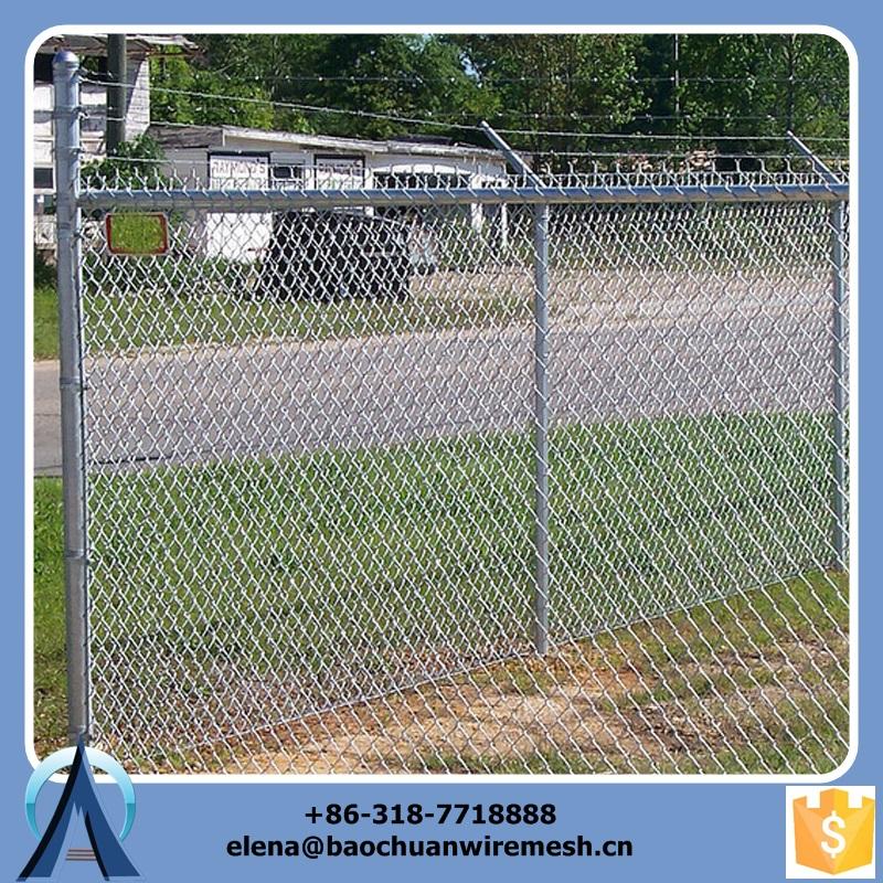 2015 hot vente haute qualité galvanisé 50 * 50 mm chain link fence 1 * 30 m