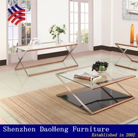 Glass and wooden folding coffee table modern furniture Designer Side Table End table