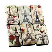 Tower design wallet leather case pouch for Samsung Galaxy Fresh S7390