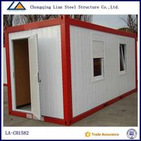 movable flexible container house