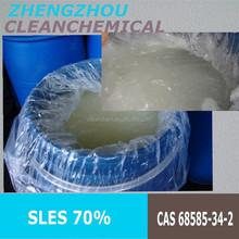 liquid viscous SLES 70% detergent grade