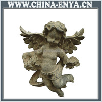 High quality factory price cast iron figurines angels