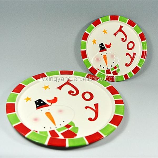 Wholesale Christmas Ceramic Plate Christmas Salad Plates