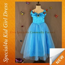 2015 nueva llegada cine y televisión cenicienta disfraz de mariposa cenicienta vestidos para las niñas CLBD-036A