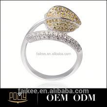 2015 new desgin fashion gold jewelry tungsten rotating gear ring