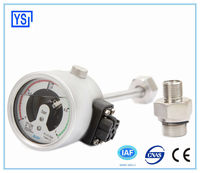 Shock Proof All Stainless steel Oil filled Electric contact SF6 gas density gauge in competitive price