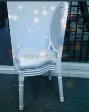 French design white wedding chair stackable louis chair