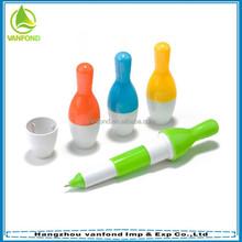 Lovely promotion bowling ball pen gift for children