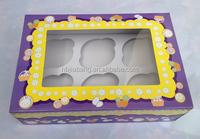 flat pack cardboard 6 pcs cupcake favor boxes