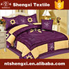 New china manufacturer queen duvet cover purple comforter set poly patchwork bedding set 3d pattern embroidery plain bedding set