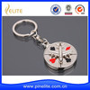 Wholesale air plane shaped metal key chain, poker keychain in stock